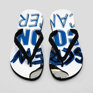 Screw Colon Cancer Flip Flops