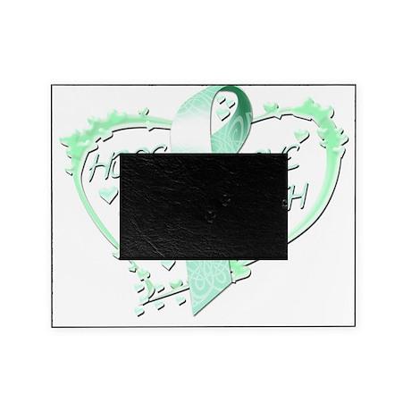 Hope Love Faith Heart (teal) Picture Frame