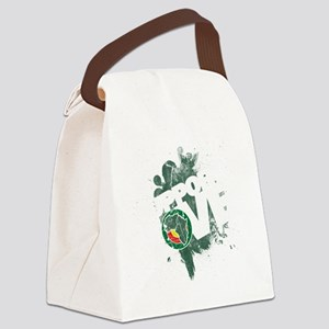 AfricaSupportLoveGreen01 Canvas Lunch Bag