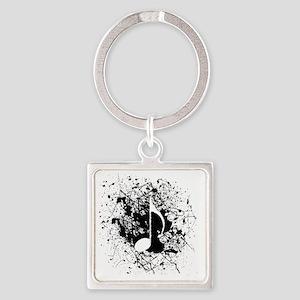 music white note splatter Square Keychain