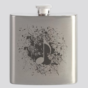 music white note splatter Flask