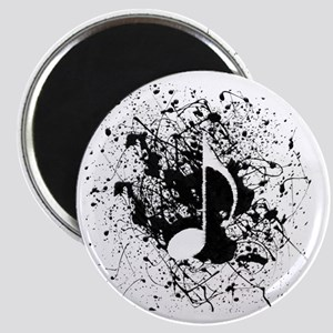 music white note splatter Magnet