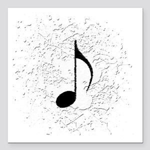 "music black note splatte Square Car Magnet 3"" x 3"""