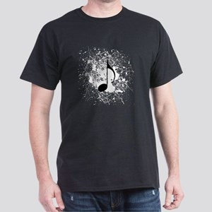 music black note splatter copy Dark T-Shirt