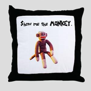 Sock Monkey Items Throw Pillow