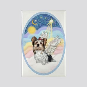 Pastel Clouds-Yorkshire Terrier ( Rectangle Magnet