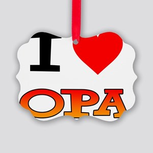 I Love Opa Baby Shirt Picture Ornament