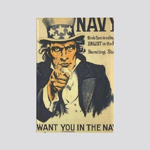 Americana  Recruiting Poster navy Rectangle Magnet