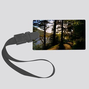Along The Rural Road Large Luggage Tag