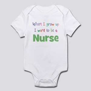 When I Grow Up Nurse Infant Bodysuit