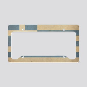 VintageGreece4 License Plate Holder