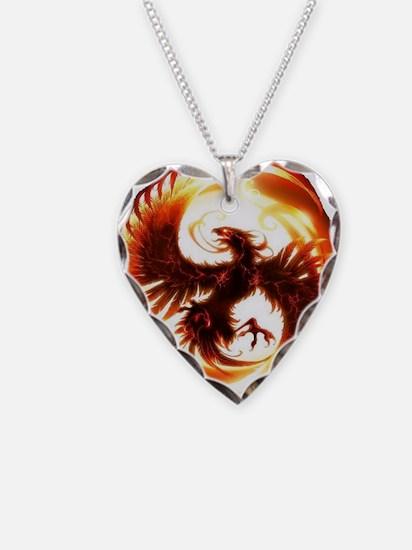 Phoenix bird necklaces phoenix bird dog tags necklace charmspendants 2 phoenix spiral necklace mozeypictures Image collections