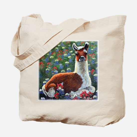 Baby Llama Tote Bag