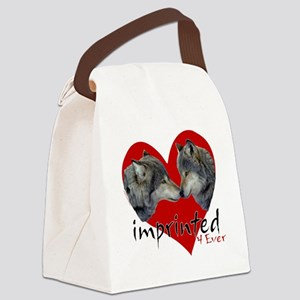 wolf-imprinted Canvas Lunch Bag