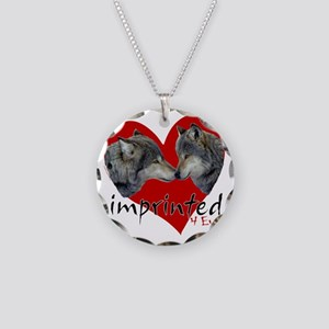 wolf-imprinted Necklace Circle Charm