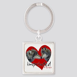 wolf-imprinted Square Keychain