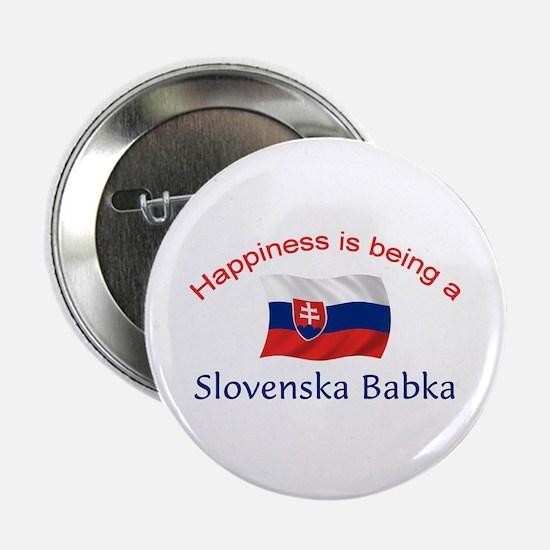 """Happy Slovenska Babka 2.25"""" Button"""
