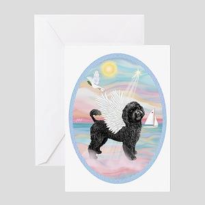 Heavenly Sea-Portuguese Water Dog #8 Greeting Card