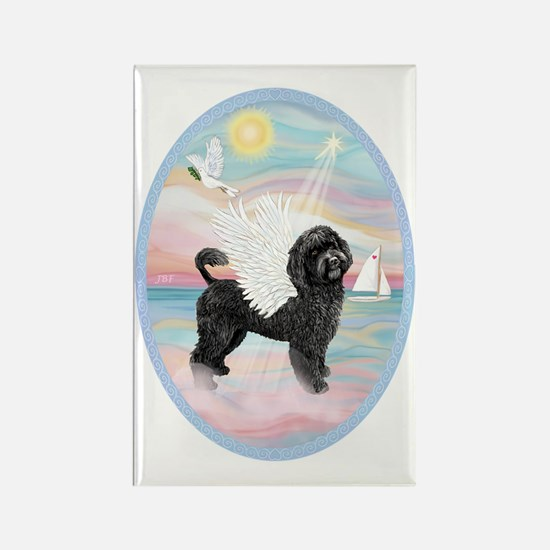 Heavenly Sea-Portuguese Water Dog Rectangle Magnet
