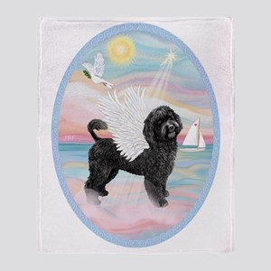 Heavenly Sea-Portuguese Water Dog #8 Throw Blanket