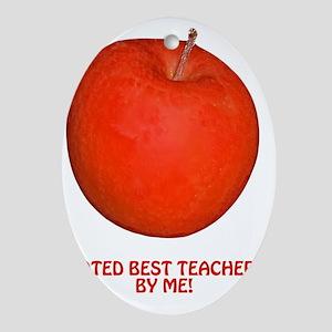 Teacher Appreciation, Reognition Gif Oval Ornament
