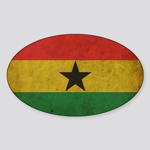 vintageGhana5 Sticker (Oval)