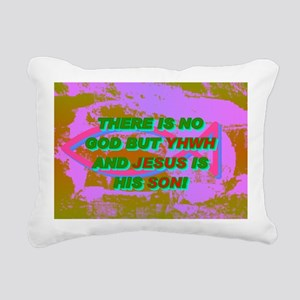 11-THERE IS NO GOD BUT Y Rectangular Canvas Pillow