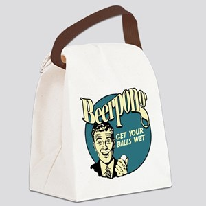 Beer_Pong-01 Canvas Lunch Bag