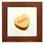 Curse Word Symbols on a Candy Heart Framed Tile