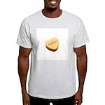 Curse Word Symbols on a Candy Heart Light T-Shirt