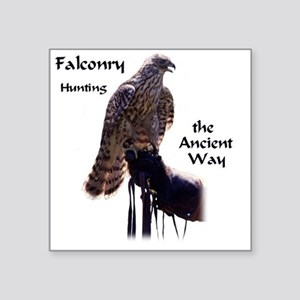 """faconry ancient way Square Sticker 3"""" x 3"""""""