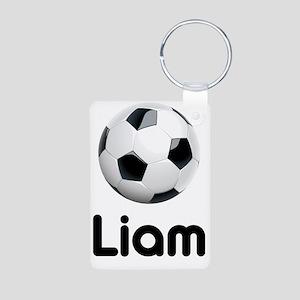 Soccer Liam Aluminum Photo Keychain