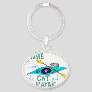 homekayakcat4dark Oval Keychain