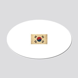VintageKoreaFlag1 20x12 Oval Wall Decal