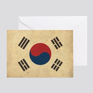 VintageKoreaFlag1 Greeting Card