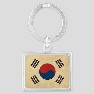 VintageKoreaFlag1 Landscape Keychain