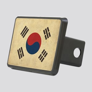 VintageKoreaFlag1 Rectangular Hitch Cover