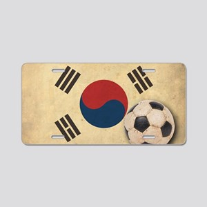 VintageKoreaFlag2 Aluminum License Plate