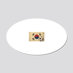 VintageKoreaFlag2 20x12 Oval Wall Decal