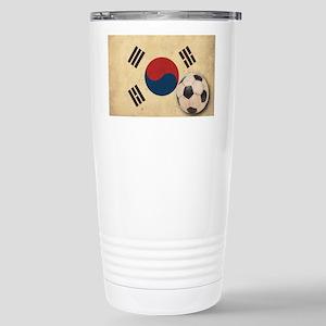 VintageKoreaFlag2 Stainless Steel Travel Mug