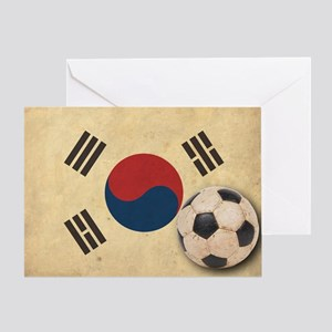 VintageKoreaFlag2 Greeting Card