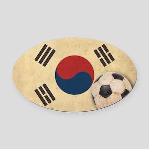 VintageKoreaFlag2 Oval Car Magnet