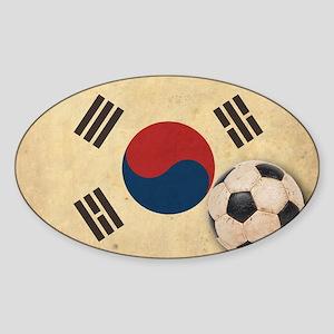 VintageKoreaFlag2 Sticker (Oval)