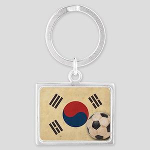 VintageKoreaFlag2 Landscape Keychain