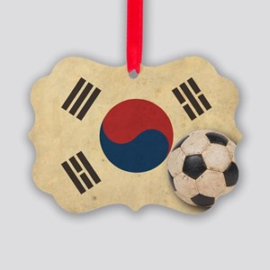 VintageKoreaFlag2 Picture Ornament