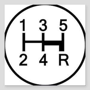 "2-Stick It Square Car Magnet 3"" x 3"""