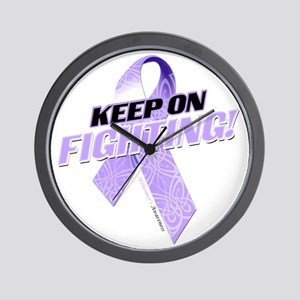 Keep on Fighting Alzheimers Wall Clock