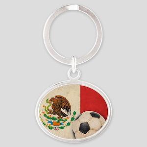 VintageMexico7 Oval Keychain