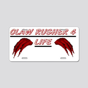 2-claw rusher for life Aluminum License Plate