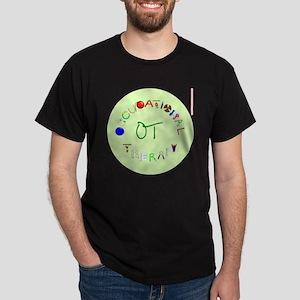 ot round green letters Dark T-Shirt